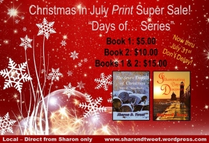 Christmas in July print promo
