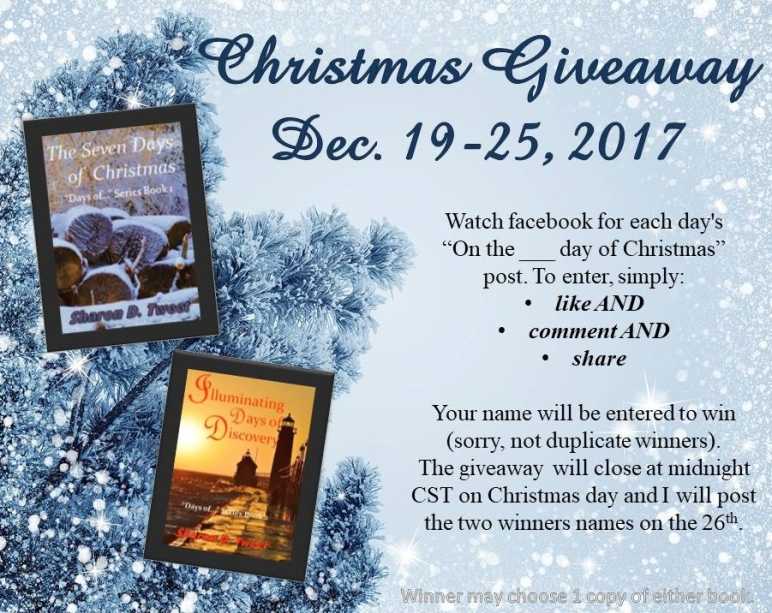 Christmas Giveaway 2017 #Discover Days of Series